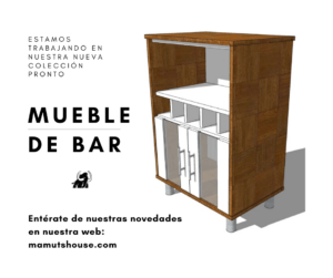 Mueble de bar de melamina Mamuts House